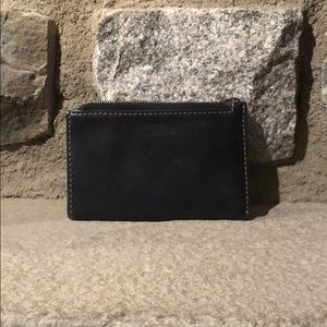 Coach Black Leather Coin Pouch